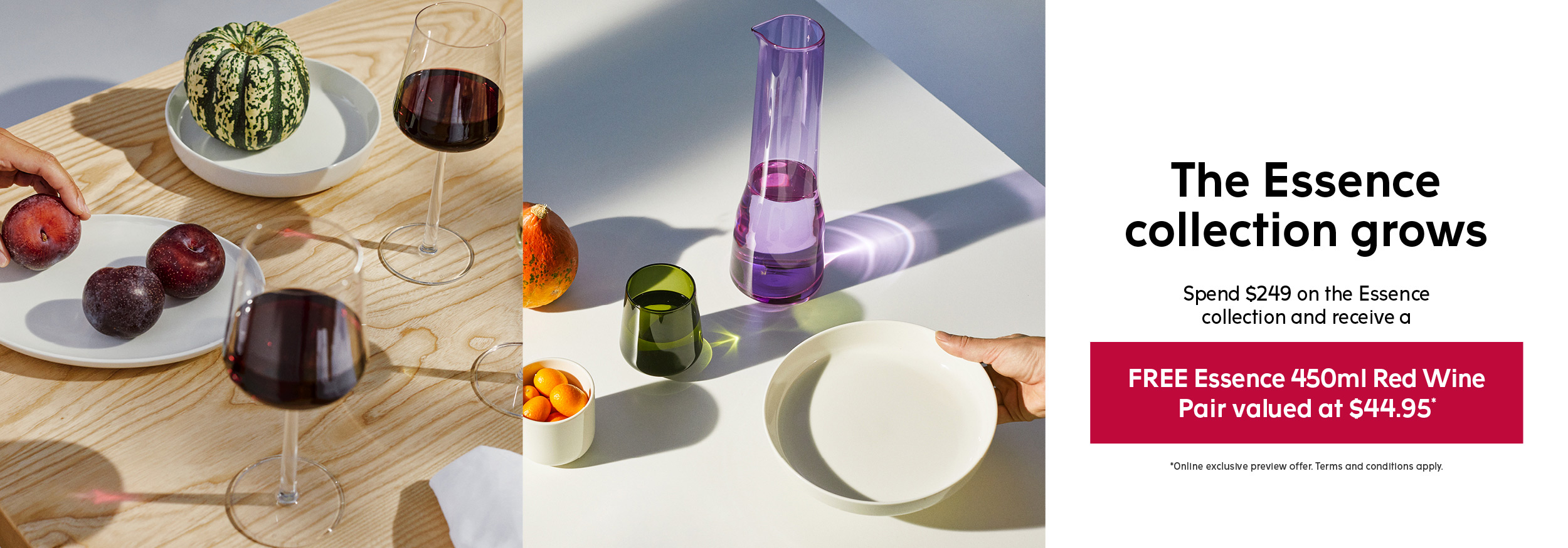 Iittala Essence promotion - main banner - desktop