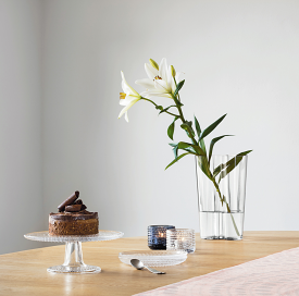 Kastehelmi Cake Stand 24cm Clear