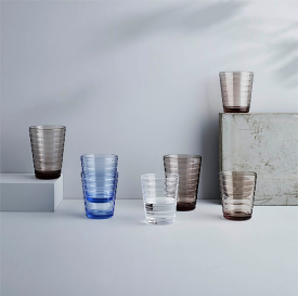 Aino Aalto Tumbler 220ml Clear Set of 4