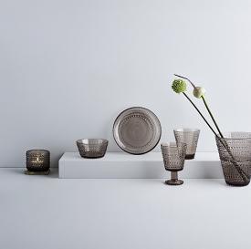Kastehelmi Vase 15cm Linen