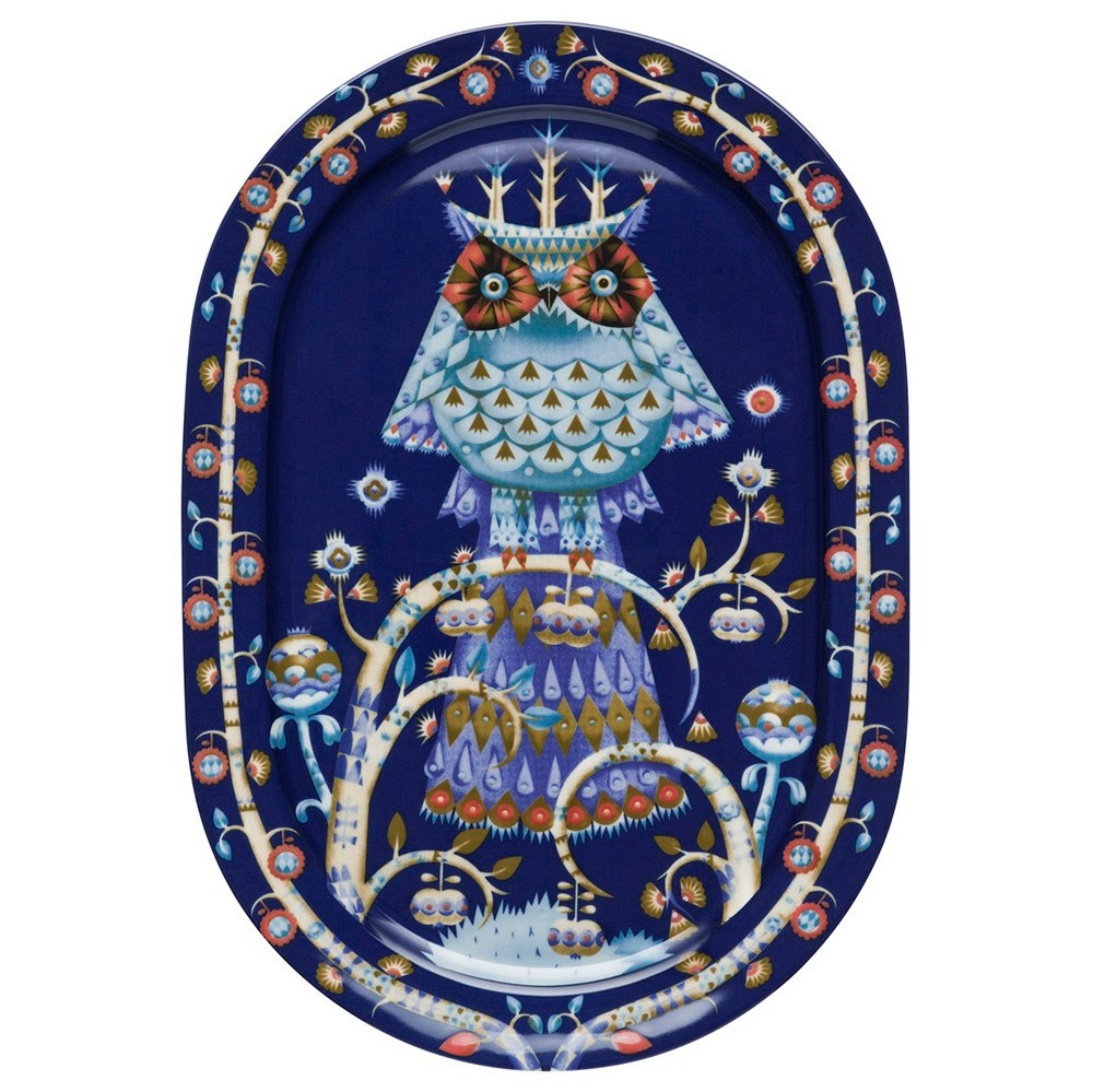Taika Blue Serving Plate 41cm Oval