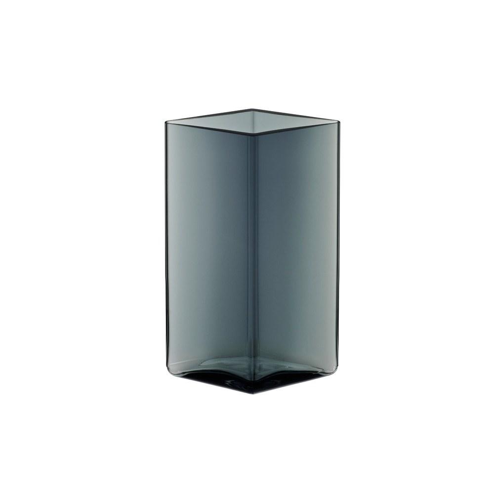 Ruutu Vase 11.5x18cm Grey