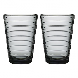 Aino Aalto Highball 330ml Grey Pair