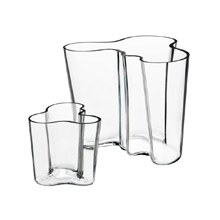 Aalto Vase Set of 2, 9.5cm & 16cm Clear
