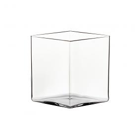 Ruutu Vase 18cm Clear