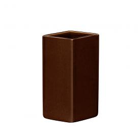 Ruutu Vase 18cm Brown