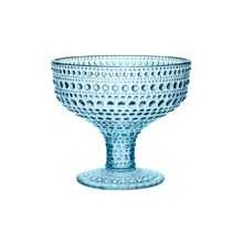 Kastehelmi Footed Bowl Light Blue