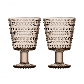 Kastehelmi Universal Glass Set of 2 Linen