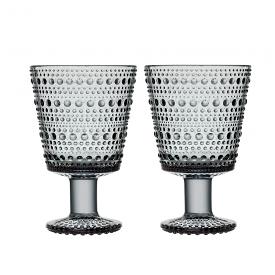 Kastehelmi Universal Glass 260ml Pair Grey