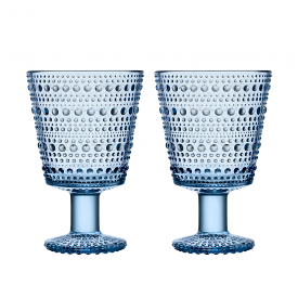 Kastehelmi Universal Glass 260ml Pair Aqua
