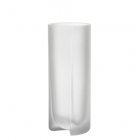Kuru Vase 25.5cm Frosted Clear