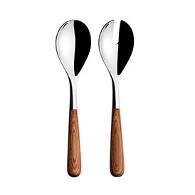 Piano Serving Set With Wooden Handles 2 Piece Set
