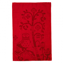 Taika Red Tea Towel