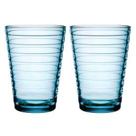 Aino Aalto Highball 330ml Light Blue Pair