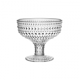 Kastehelmi Footed Bowl Clear