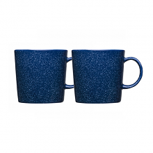 Teema Dotted Blue Mug 300ml Set 2