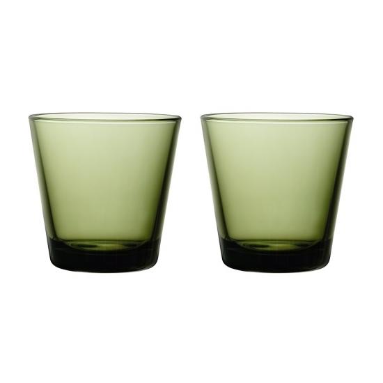 Kartio Tumbler 210ml Moss Green Pair