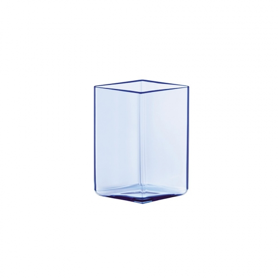 Ruutu Vase 14cm Aqua