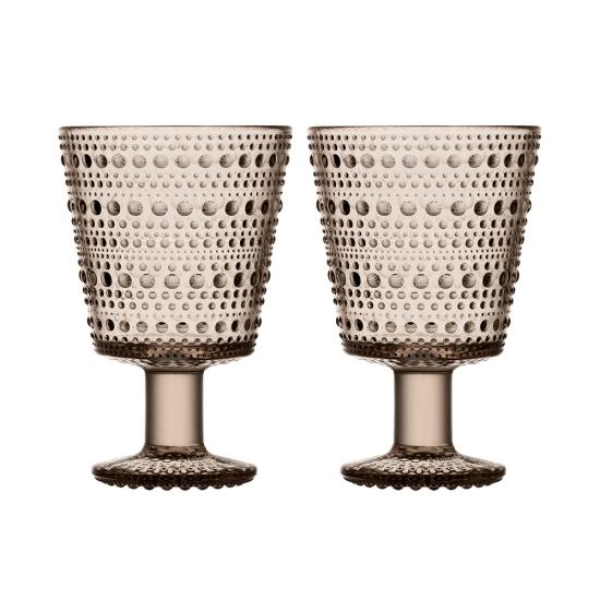 Kastehelmi Universal Glass Set of 2 Linen