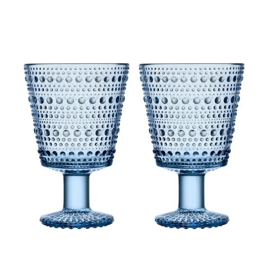 Kastehelmi Universal Glass 260ml Pair Aqua