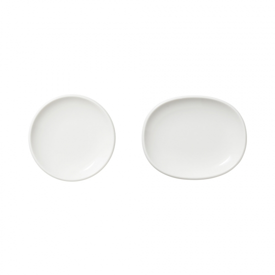Raami Small Plate White Set of 2