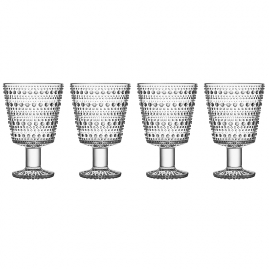 Kastehelmi Universe Glass 260ml Clear Set of 4