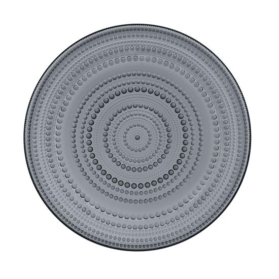 Kastehelmi Plate 31.5cm Dark Grey