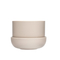 Nappula Plant Pot with Saucer Beige 17cmx13cm