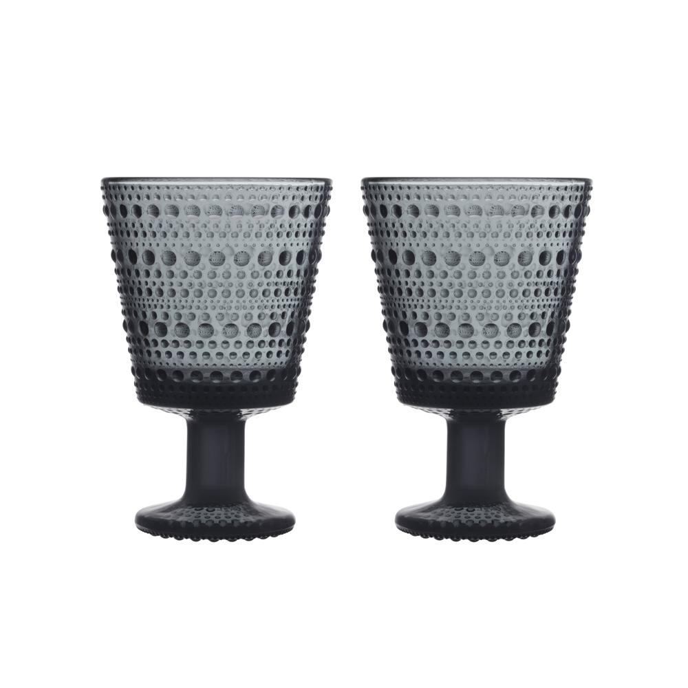Kastehelmi Universal Glass Set of 2 Dark Grey
